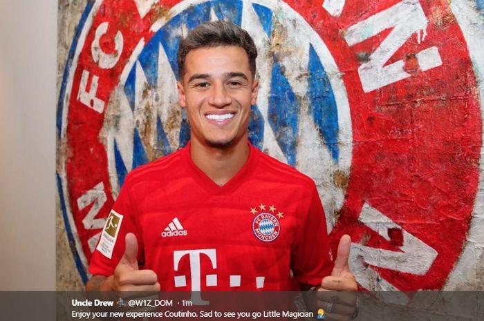 Bayern Muenchen resmi mendapatkan Philippe Coutinho dari Barcelona berstatus pinjaman dengan opsi pembelian di akhir peminjaman.