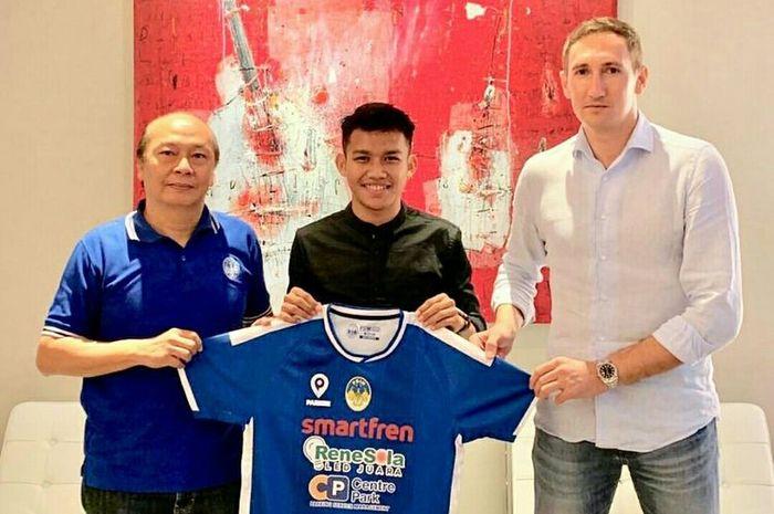 Witan Sulaiman diperkenalkan sebagai pemain baru PSIM Yogyakarta.