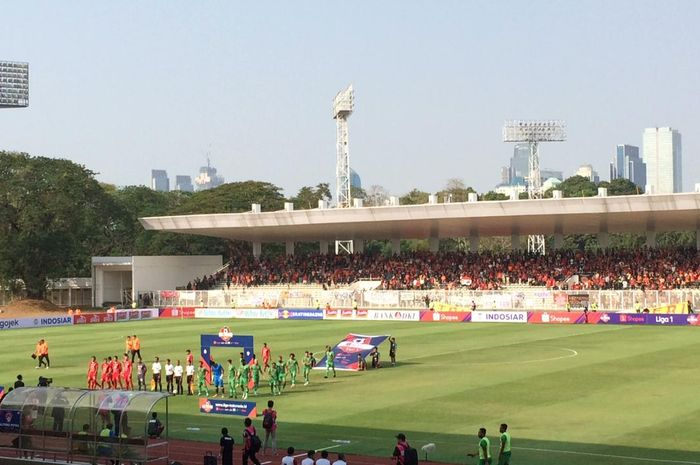 Persija Vs Kalteng Putra di Stadion Madya, Senayan, Selasa (20/8/2019).