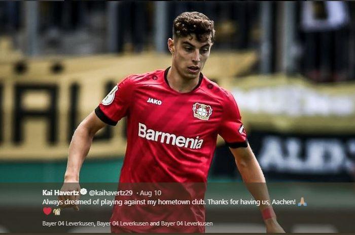 Gelandang serang Bayer Leverkusen, Kai Havertz, menjadi incaran klub-klub Inggris.