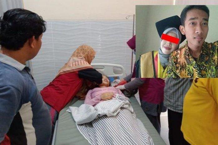 Seorang wanita tiba-tiba meninggal di pelukan kekasihnya (Kolase Tribunnews/ Tribratanews.jateng.polri.go.id/FB: Dina Erviana)