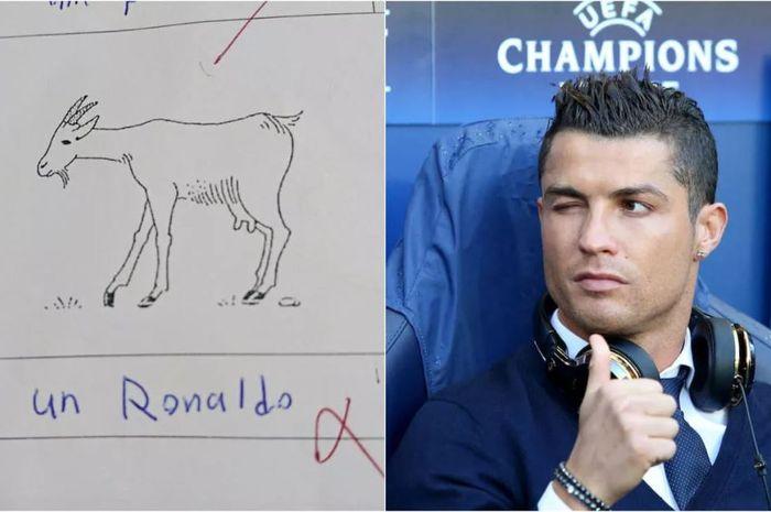 Seorang siswa SMP bernama Ahmed Nabil tak lolos ujian karena menyebut Cristiano Ronaldo sebagai kambing.