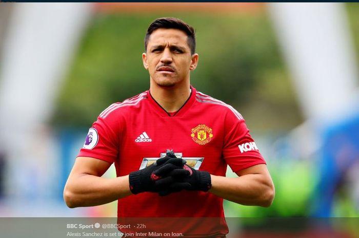 Alexis Sanchez saat memperkuat Manchester United.