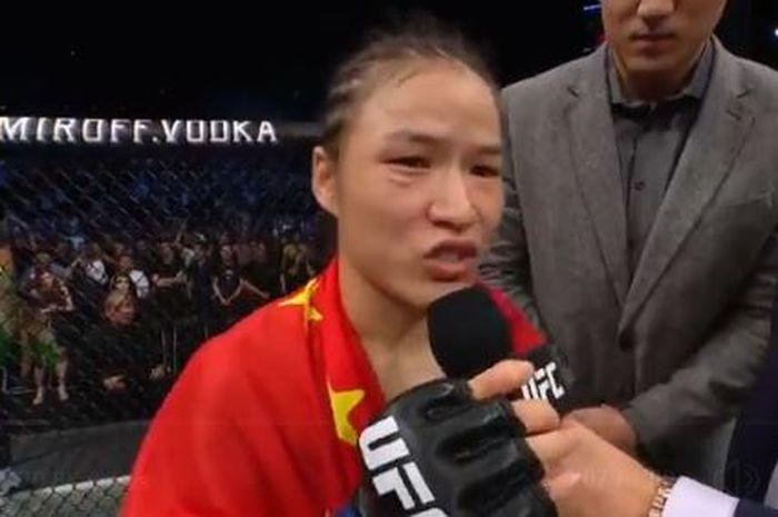 Zhang Weili menjadi juara UFC pertama asal China setelah mengalahkan Jessica Andrade pada Sabtu (31/8/2019).