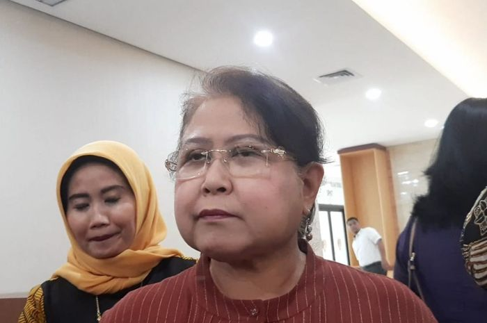 Elza Syarief di Bareskrim Mabes Polri, Jakarta Selatan, Selasa (3/9/2019).