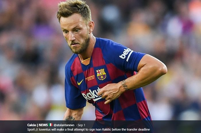 Gelandang tengah Barcelona, Ivan Rakitic, yang dikabarkan diminati serius oleh Juventus.