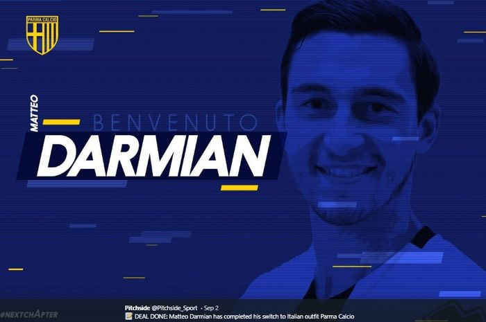 Eks bek kanan Manchester United, Matteo Darmian, resmi bergabung dengan Parma  pada bursa transfer musim panas 2019.