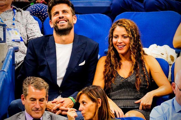 Gerard Pique dan Shakira sedang menyaksikan pertandingan yang mempertontonkan Rafael Nadal pada US Open 2019.