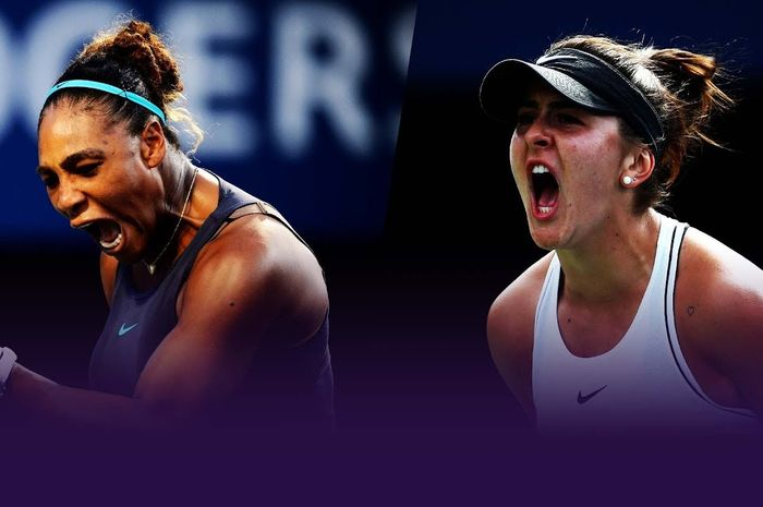 Petenis tunggal putri Amerika Serikat, Serena Williams (kiri), akan menghadapi Bianca Andreescu dari Kanada (kanan) pada laga final US Open 2019 di New York, Amerika Serikat.