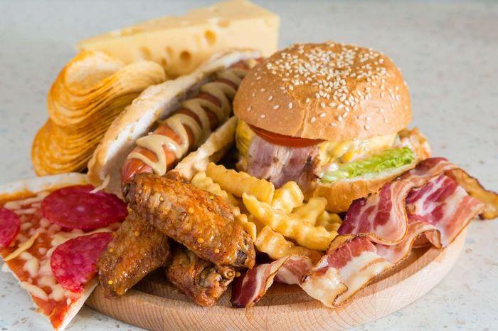 Ilustrasi junk food.