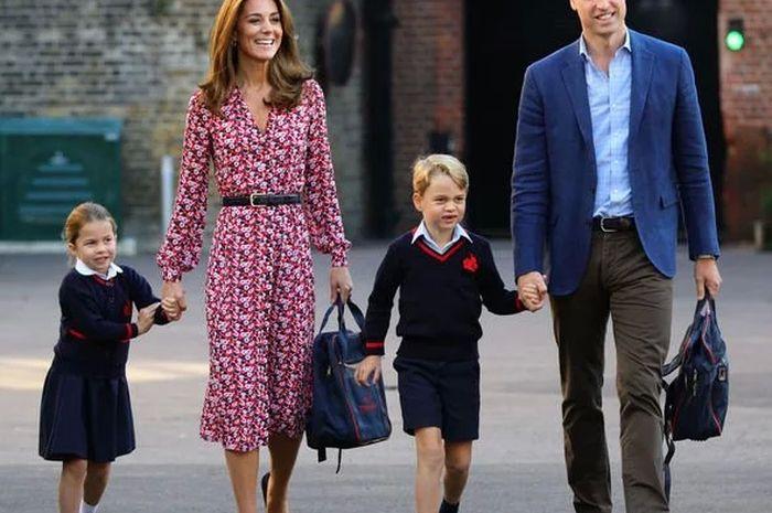 Outfit Kate Middleton saat mengantar anak-anaknya