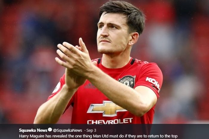 Bek tengah anyar Manchester United, Harry Maguire.