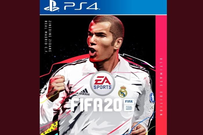 Zinedine Zidane menjadi cover dalam game FIFA 20 edisi ultimate
