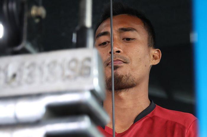 Pemain Senior Borneo FC, Sultan Samma kala menjalani TC bersama tim di Batu, Malang
