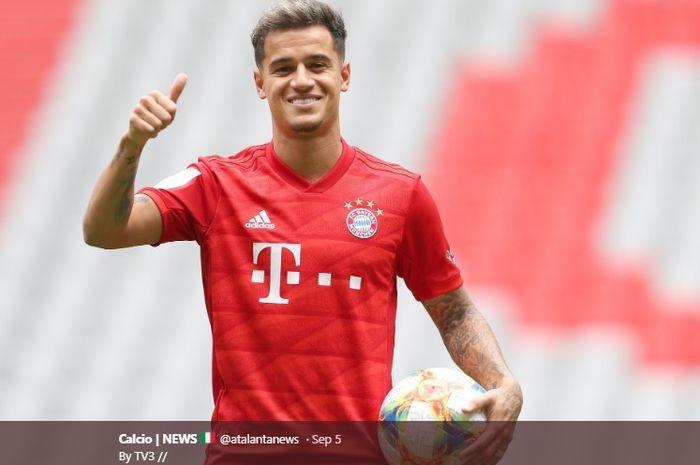 Gelandang serang Barcelona yang dipinjamkan ke Bayern Muenchen, Philippe Coutinho.