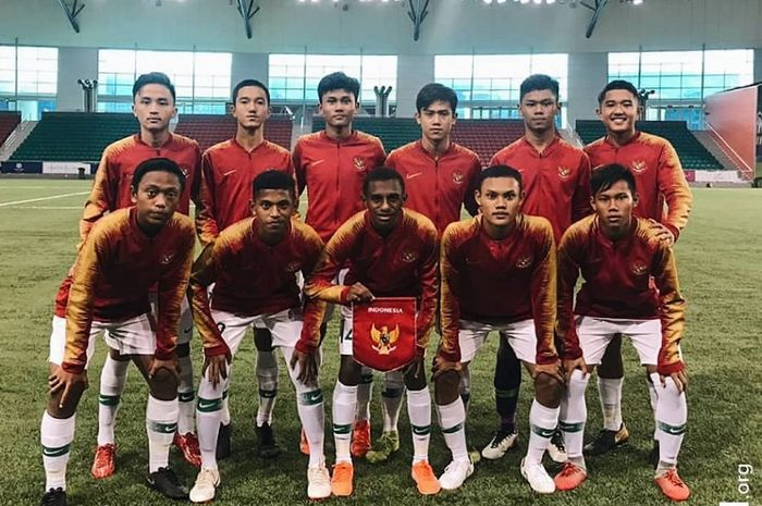 Timnas U-16 Indonesia asuhan Bima Sakti.