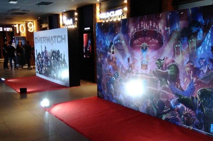 Acara peresmian kerja sama Blizzard Entertainment dan AKG Games di Jakarta, Kamis (12/9/2019).