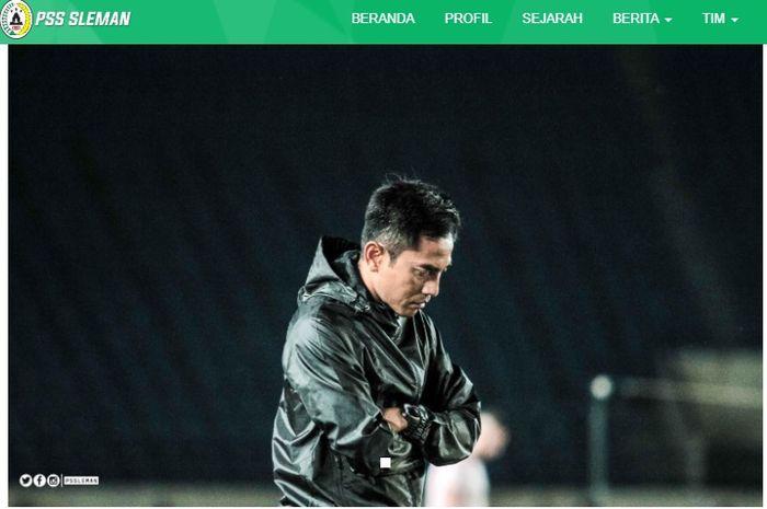 Seto Nurdiantoro, pelatih PSS Sleman.