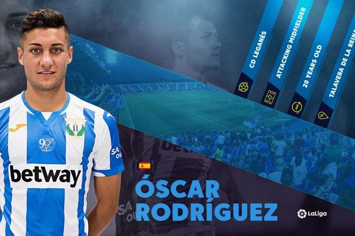 Pemain Leganes, Oscar Rodriguez.