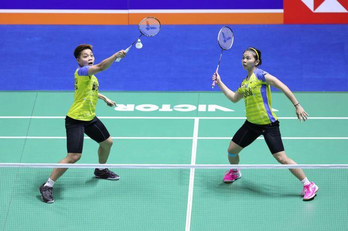 Pasangan ganda putri Indonesia, Greysia Polii/Apriyani Rahayu, tampil pada babak pertama China Open 2019 di Olympic Sports Center Gymnasium, Changzou, China, Rabu (18/9/2019).
