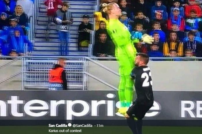 Kiper Besiktas yang dipinjam dari Liverpool, Loris Karius, kembali membuat blunder fatal untuk timnya pada laga perdana Liga Europa 2019-2020.