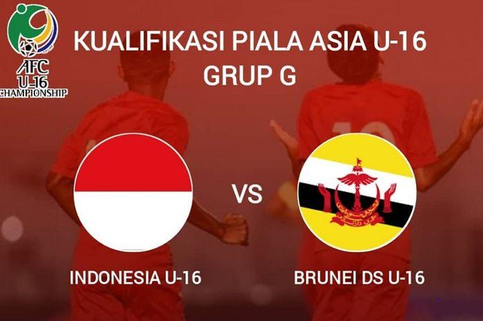 Timnas U-16 Indonesia meladeni Timnas U-16 Brunei.