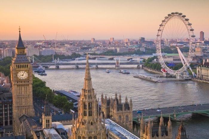 Pemandangan Ibukota Inggris, London.