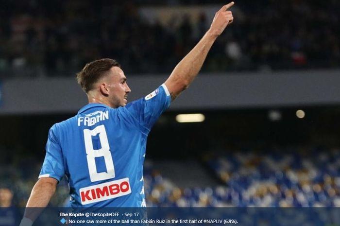 Gelandang tengah milik Napoli, Fabian Ruiz.