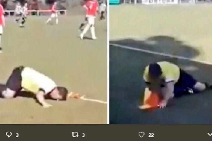 Milan Sefara, asisten wasit dalam pertandingan sepak bola antarpelajar di Republik Ceska yang mabuk saat bertugas.