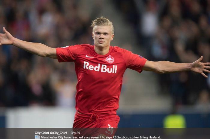 Striker Red Bull Salzburg, Erling Braut Haaland.