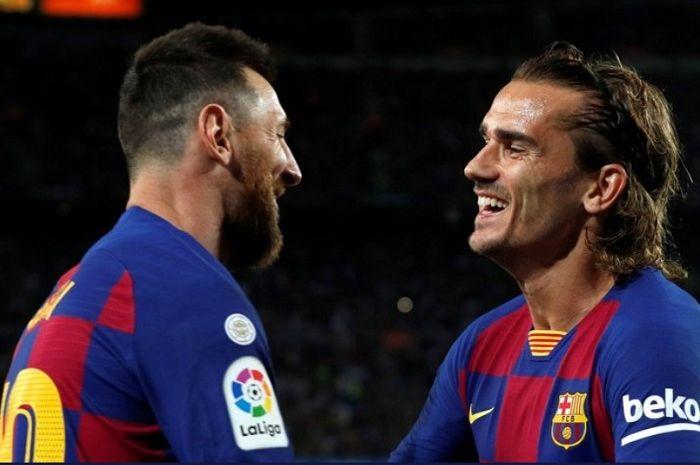 Lionel Messi dan Antoine Griezmann