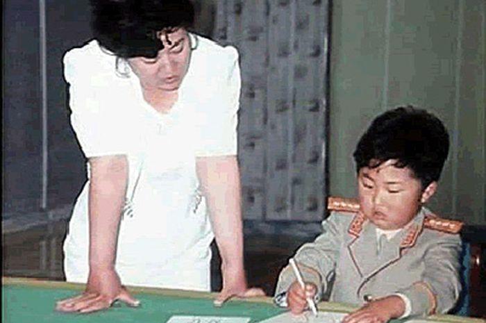 Foto diduga masa kecil Kim Jong Un