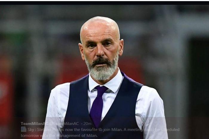 Stefano Pioli, pelatih yang pernah menukangi Inter Milan dan lalu ke AC Milan.
