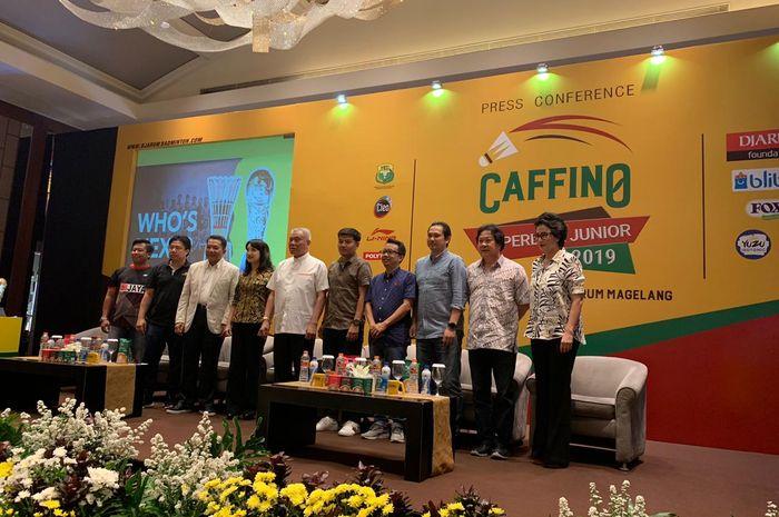 Perwakilan klub peserta Superliga Junior 2019 pada konferensi pers di Jakarta, Rabu (9/10/2019).