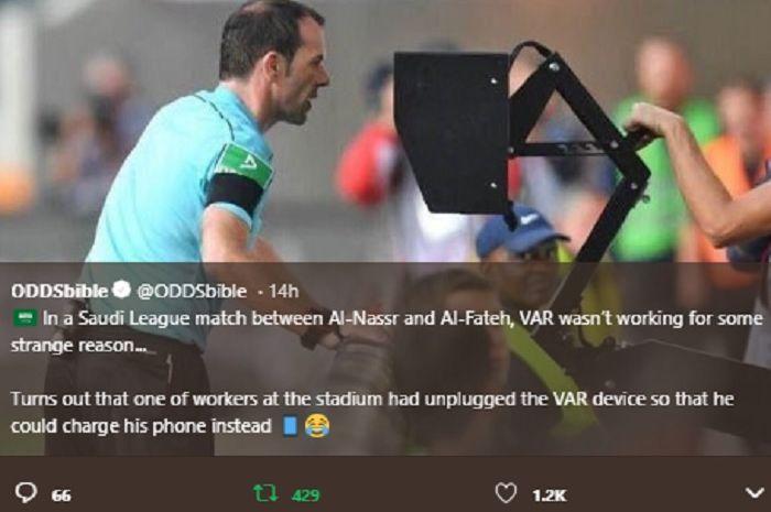 Kontroversi VAR di Liga Arab Saudi.