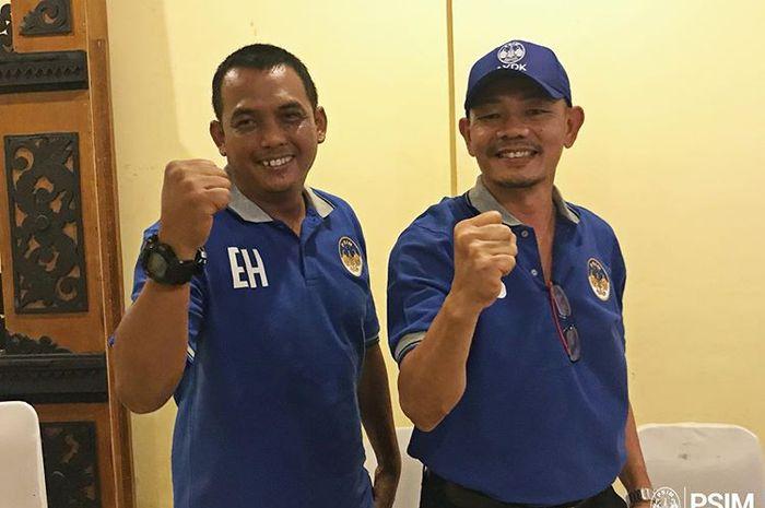 Pelatih PSIM Yogyakarta, Liestiadi, bersama asisten pelatih PSIM Yogyakarta, Erwan Hendarwanto, telah diresmikan pada 10 Oktober 2019.