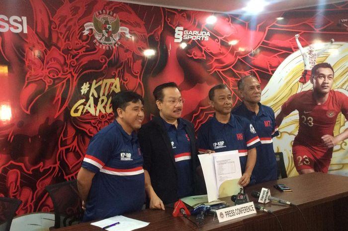 Komite Pemilihan PSSI melakukan sesi jumpa pers di Kantor PSSI, Kuningan, Jakarta Pusat, Kamis (10/10/2019).