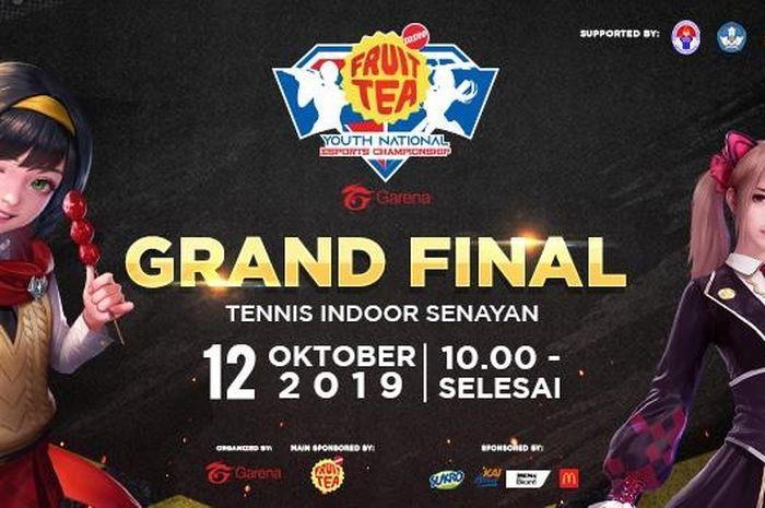 Ada 16 sekolah yang merebutkan Piala Menpora pada Grand Final Youth National Esports Championship di Tennis Indoor Senayan, Sabtu (12/10/2019).
