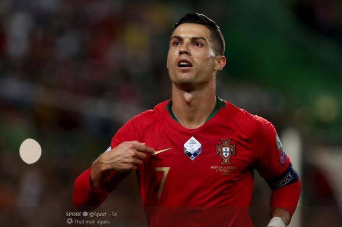 Kapten timnas Portugal, Cristiano Ronaldo.