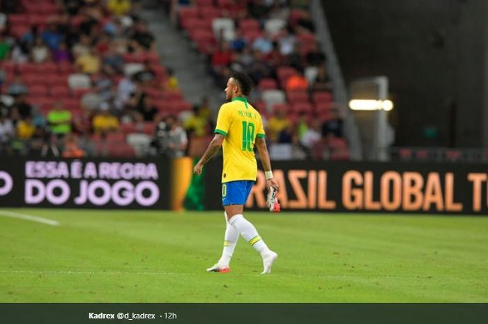 Bintang timnas Brasil, Neymar.