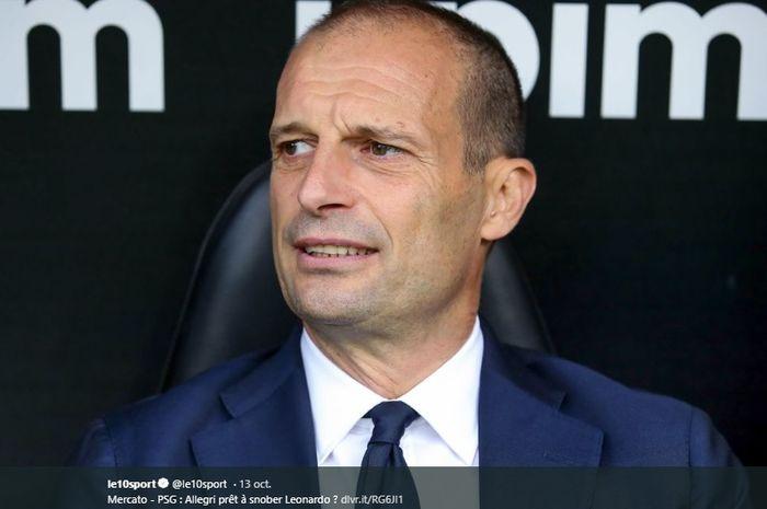 Eks pelatih Juventus, Massimiliano Allegri, yang dikabarkan berminat menduduki jabatan pelatih Manchester United.