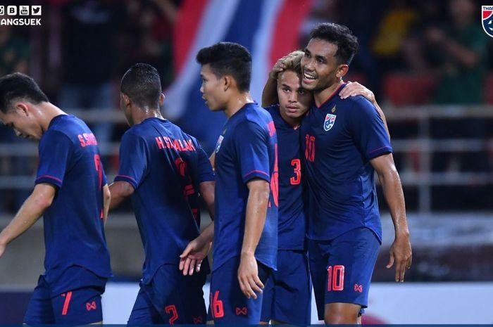 Timnas Thailand mengalahkan Uni Emirat Arab.