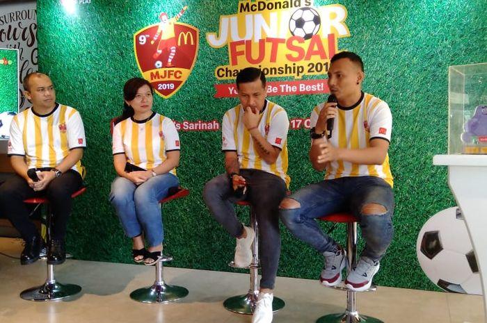 Konferensi pers McDonalds Junior Futsal Championship 2019 di McDonalds Sarinah, Jakarta, Kamis, (17/10/2019).