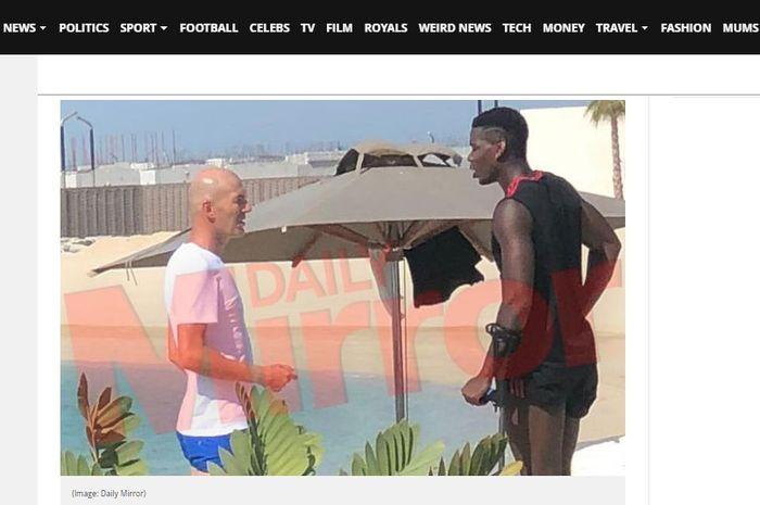 Zinedine Zidane dan Paul Pogba bertemu di Dubai.