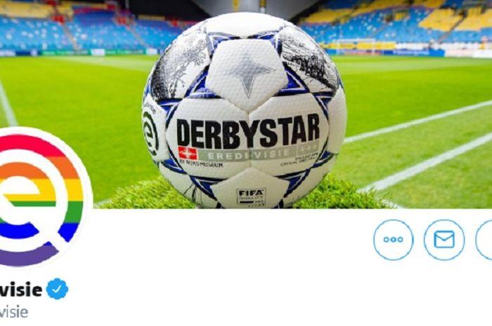 Logo dan Bola Resmi Liga Belanda 2019-2020.