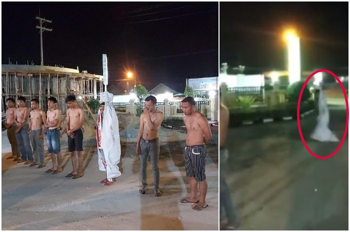 iral Video Pocong Abal-abal Keciduk Polisi