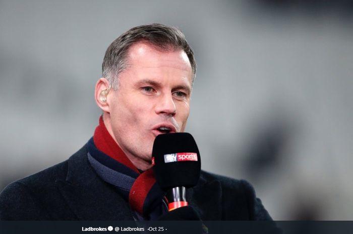 Eks kapten dan bek tengah Liverpool yang kini menjadi pundit sepak bola, Jamie Carragher.