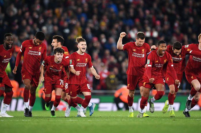 Liverpool menyingkirkan Arsenal lewat adu penalti di 16 Besar Carabao Cup.