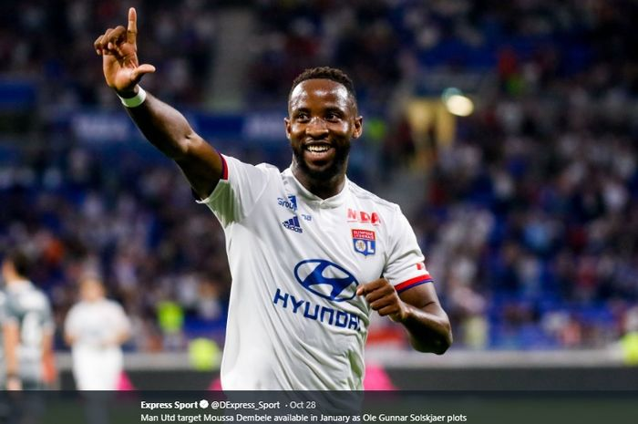 Striker Olympique Lyon, Moussa Dembele.