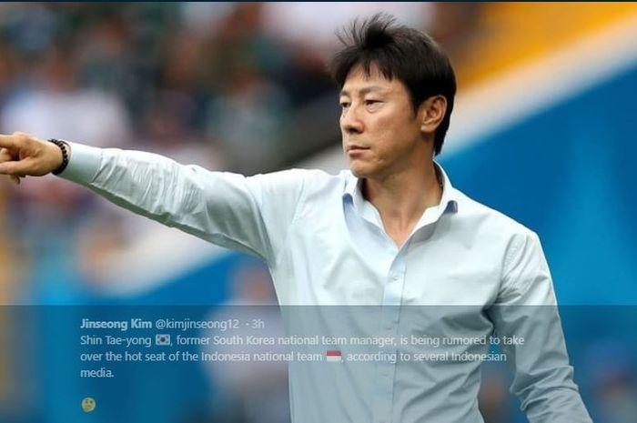 Mantan pelatih timnas Korea Selatan, Shin Tae-yong, disebut jadi calon pelatih timnas Indonesia.